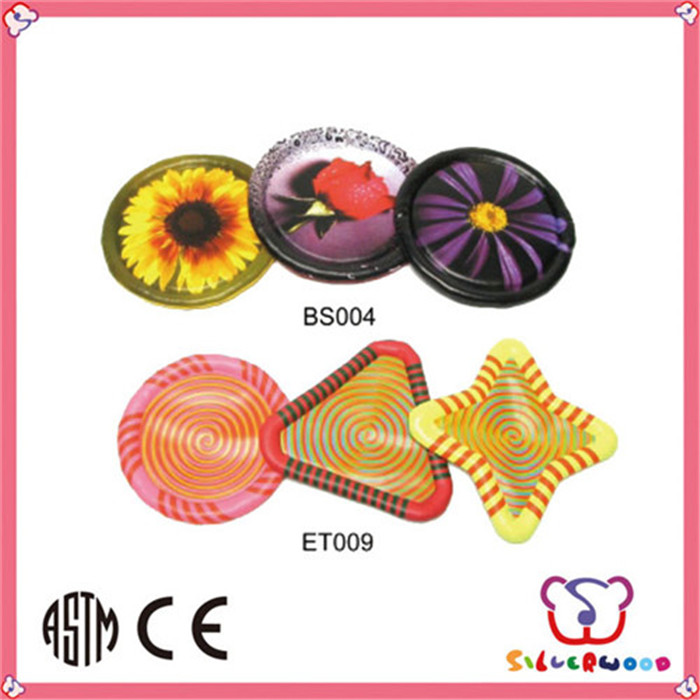 GSV certification colorful printed promotional custom foldable frisbee