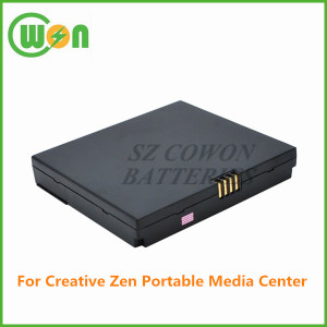 3.7V 3600mAh li-ion replacement battery for Creative Zen Portable Media Center UCZPAB01 BA20603R79913 PMA-BA0001 BA0001