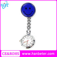 Steel strap watch medical clip chinese quartz nurse fob smile watch