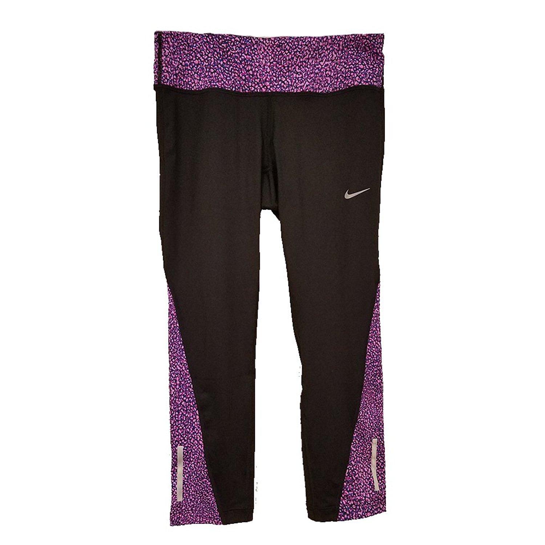 cbc9ea2bd45a9d Get Quotations · Nike Women's Dri-Fit Running Training Tights Black Print  839868 010