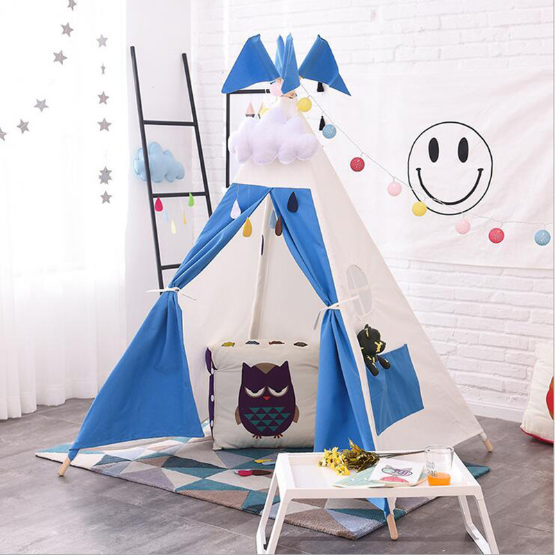 DM 369 kids toy teepee tents with poles included princess house Childrens Play House Tipi Room Decor play tents for kids
