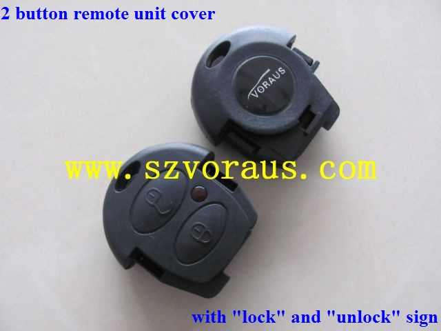 "New VW Remote Key Keyless 2 button remote case with ""lock"" and ""unlock"" sign"