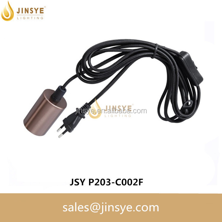 Colorful wire cable 2 pin 12v ul 3 pin plug 220v