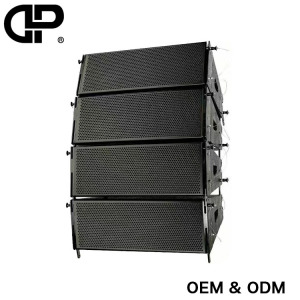 Dual 12 inch active line array for outdoor high performance waterproof high power professional active speaker stage PA speaker