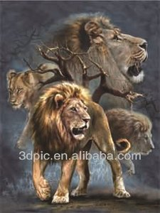 Custom 3d craft picture of wild animal lion