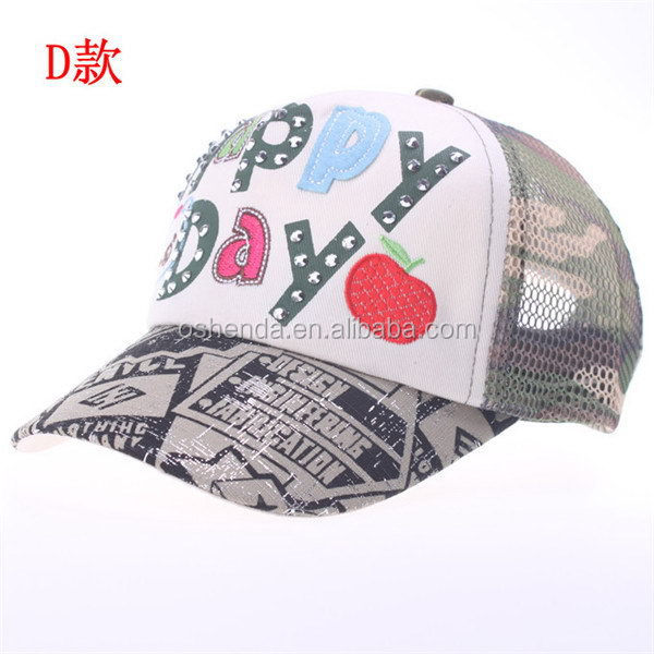 Cheap manufacture mesh sports ed hardy hat