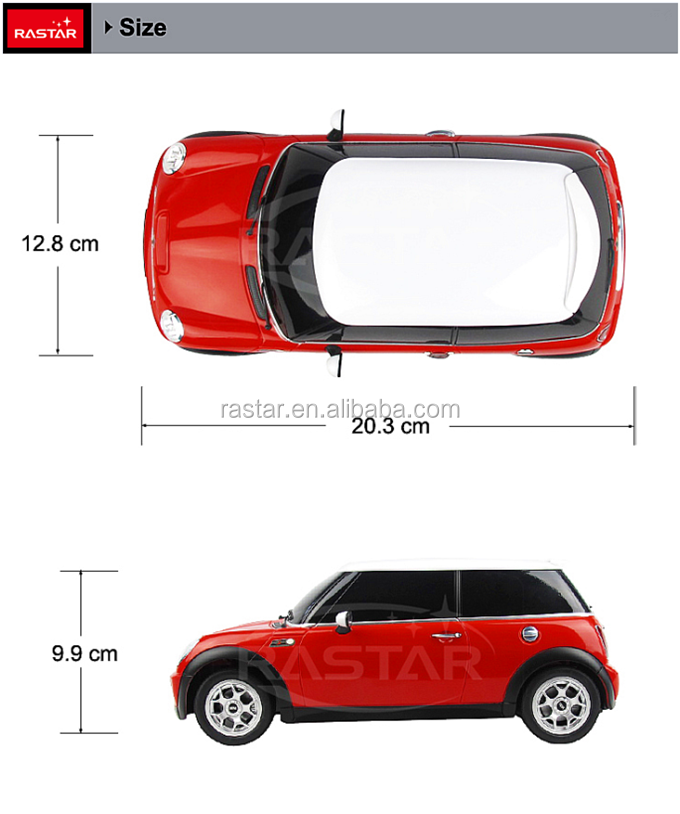 HOT sale RASTAR official licesend Miniature Mini cooper electirc car toy RC toy
