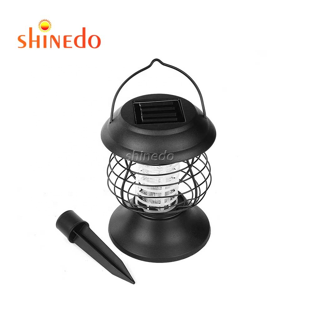 Shinedo Solar Mosquito Licht, Waterdichte Draadloze Draagbare Opknoping Lamp Bug Zapper Solar LED Muggen Killer Lamp Insect Val