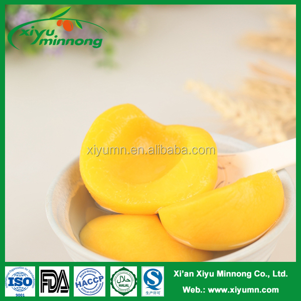 Chinese best quality canned yellow peach