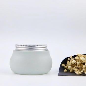 Cosmetic glass cream jar/frosted glass jar with aluminum lid 150ml