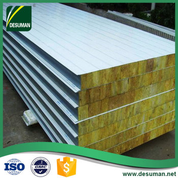 Saudi arabia manufacturer turkey fire retardant rockwool sandwich panel prefabricated wall panels