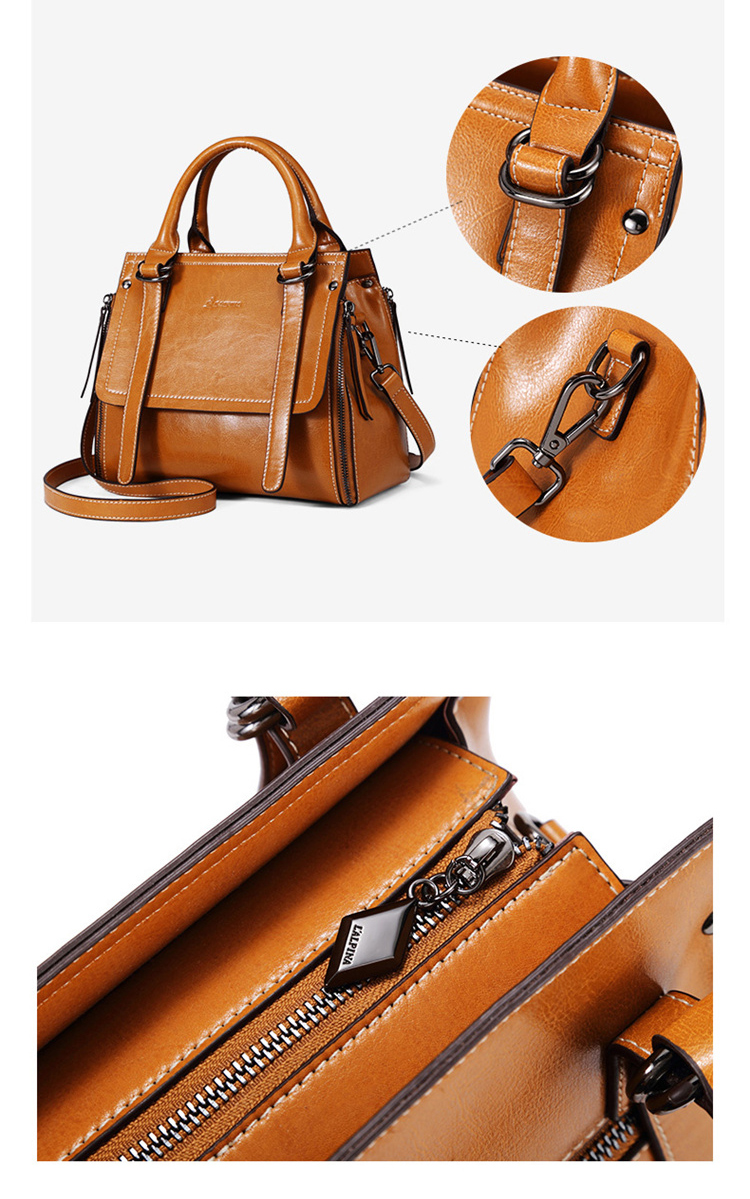 Custom high end big capacity women tote hand bags vintage lady premium leather handbag