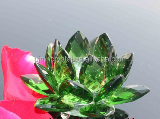 artificial flower blue crystal lotus MH-H0058