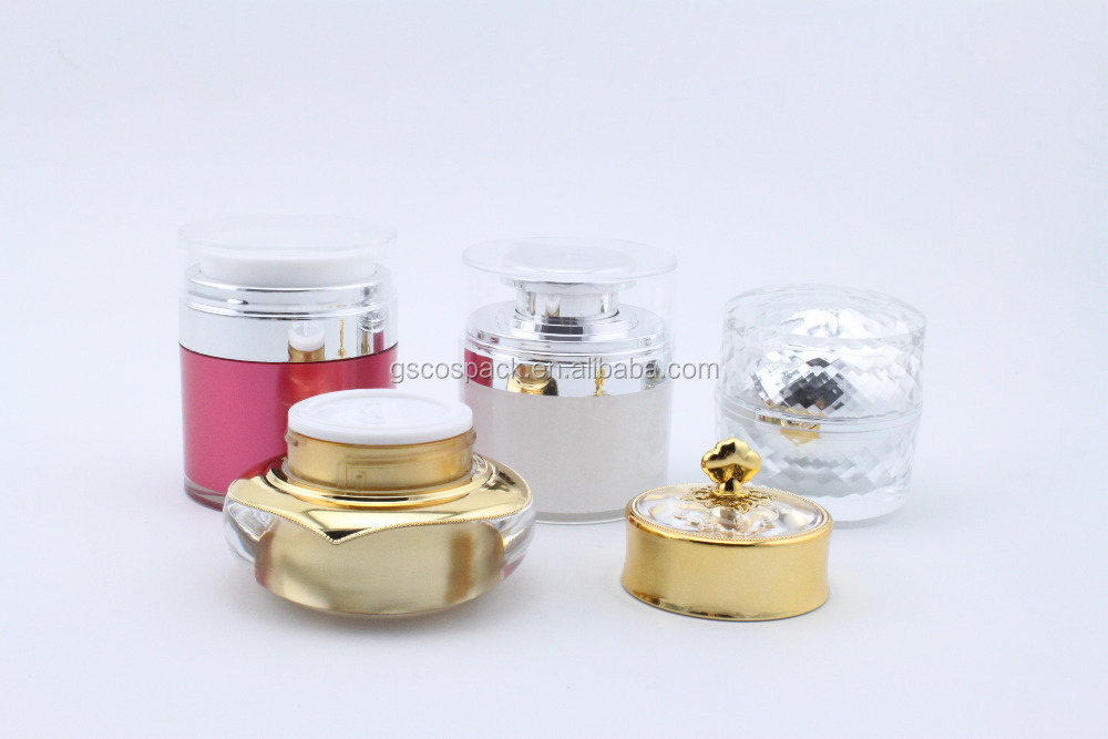 cosmetic empty plastic/acylic face cream container/jars