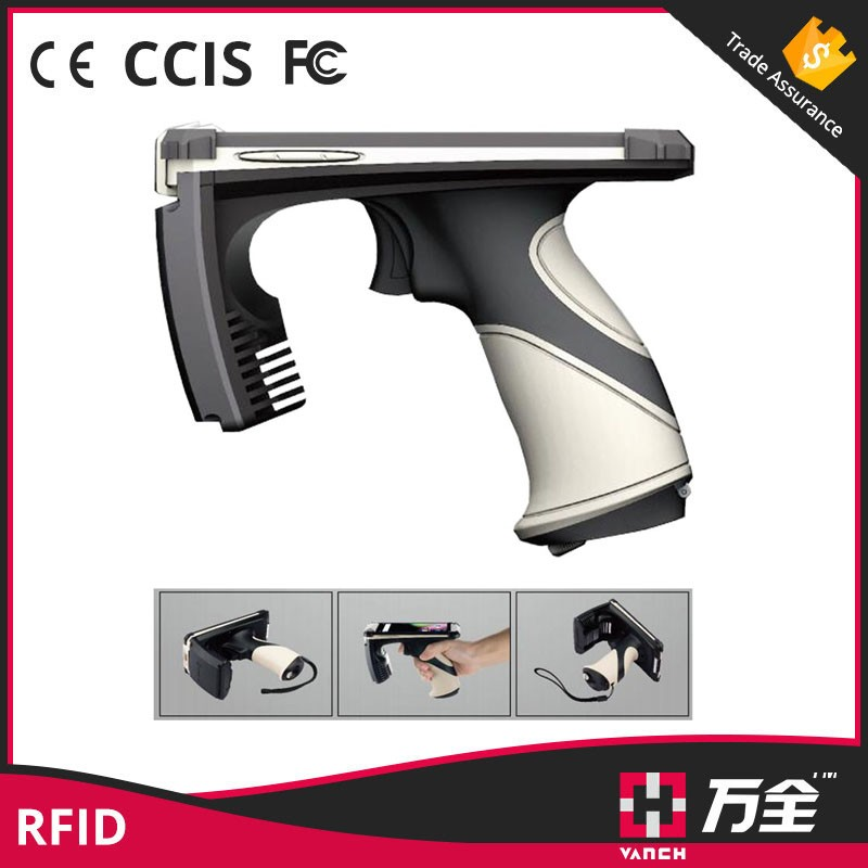 Android Long Range Handheld UHF RFID Reader with 2d  barcode scanner