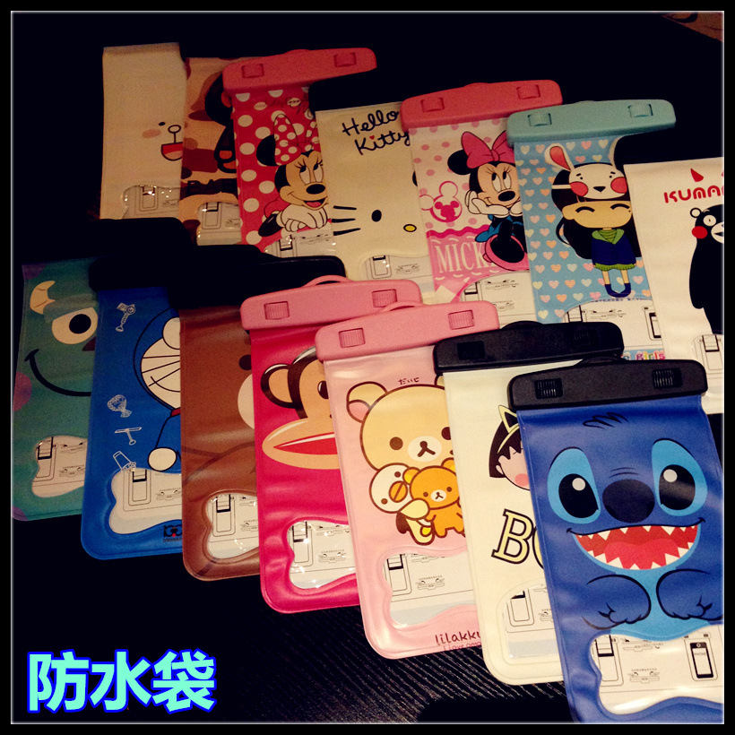 Wholesale High Quality OEM Cartoon Clear PVC waterproof Bag Mobile Phone Case For Phone