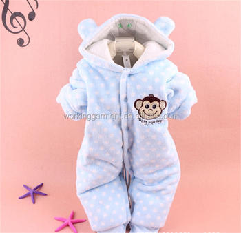 5ab6e31ec227 Cheap Winter Warm Thick Fleece Baby Infant Footed Onesie Pajama ...