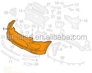 Car Auto Parts Front Bumper Oem 95850522160g2l For Porsche Cayenne 92a Type  2013-2014 Replacement Parts - Buy Front Bumper For Porsche,Front Bumper