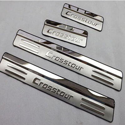 For Honda Crosstour 2010 2014 Stainless Steel Door Sill Strip Scuff Plate Car Styling Stickers Accessories