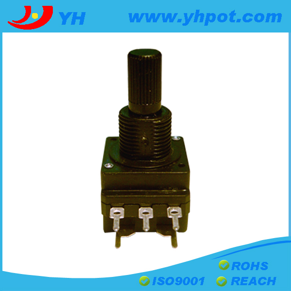 Jiangsu 16mm 5 Pin Rotary 100k Potentiometer With On/off Switch ...