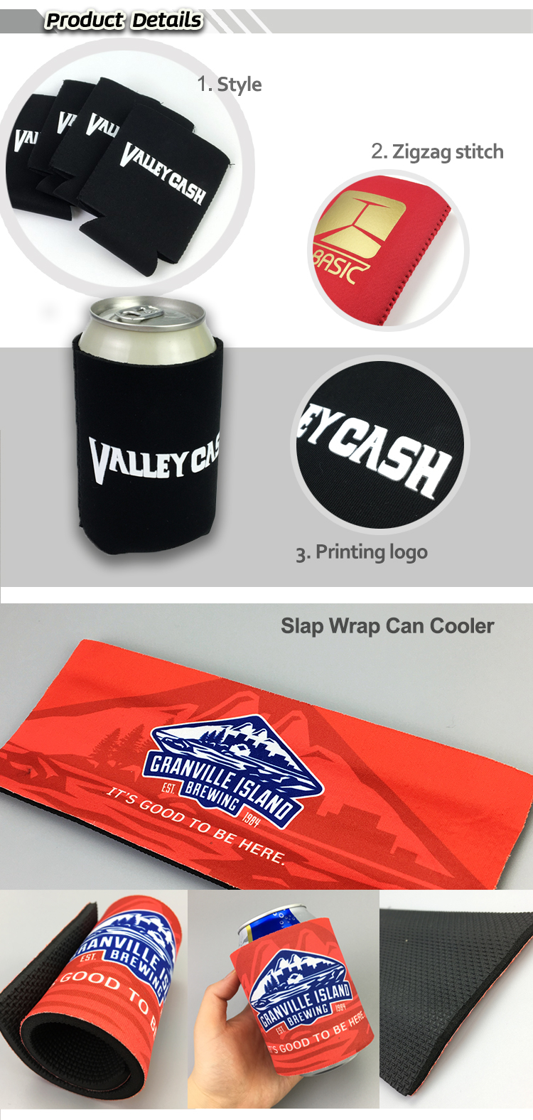 custom your logo personalized stubby glass Beer Cooler Sleeve