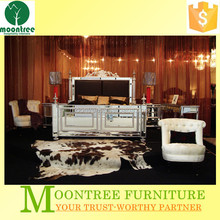 Moontree MBR-1363 mirrored glass bedroom furniture set design