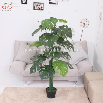 Indoor Home Decorative Trees Plant Type And Plastic Material Artificial Leaf Plants