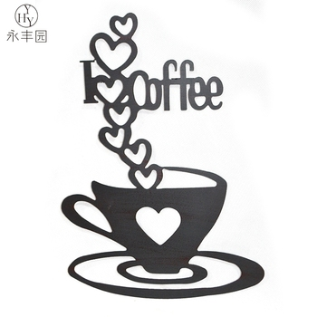 Metal Coffee Cup Craft Design Wall Art Decors - Buy Metal Coffee Cup ...