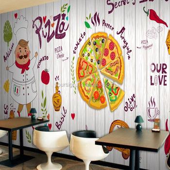 Popular Pizza Fast Food Restaurant Design Wallpaper Buy Wallpaper Fast Food Restaurant Design Pizza Product On Alibaba Com