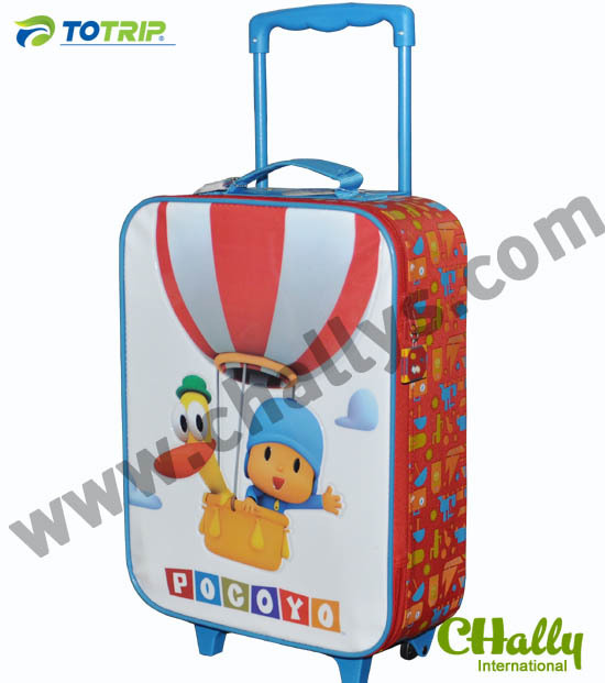 Rolling travel children cartoon luggage