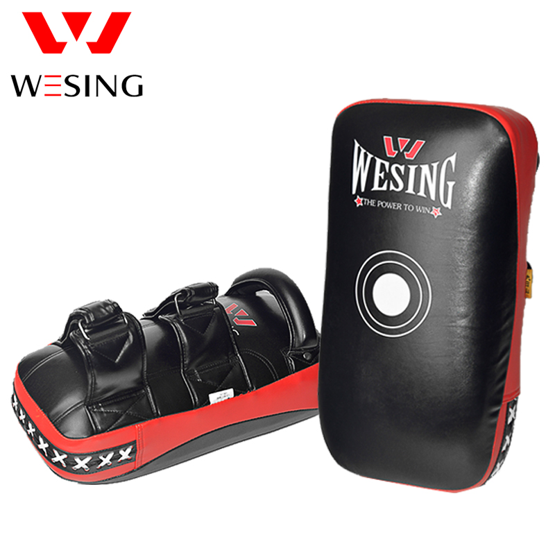 WESING Boxing Training Kick pads Kick Boxing Strike Curved Arm Pad MMA Focus Muay Thai Punch Shield