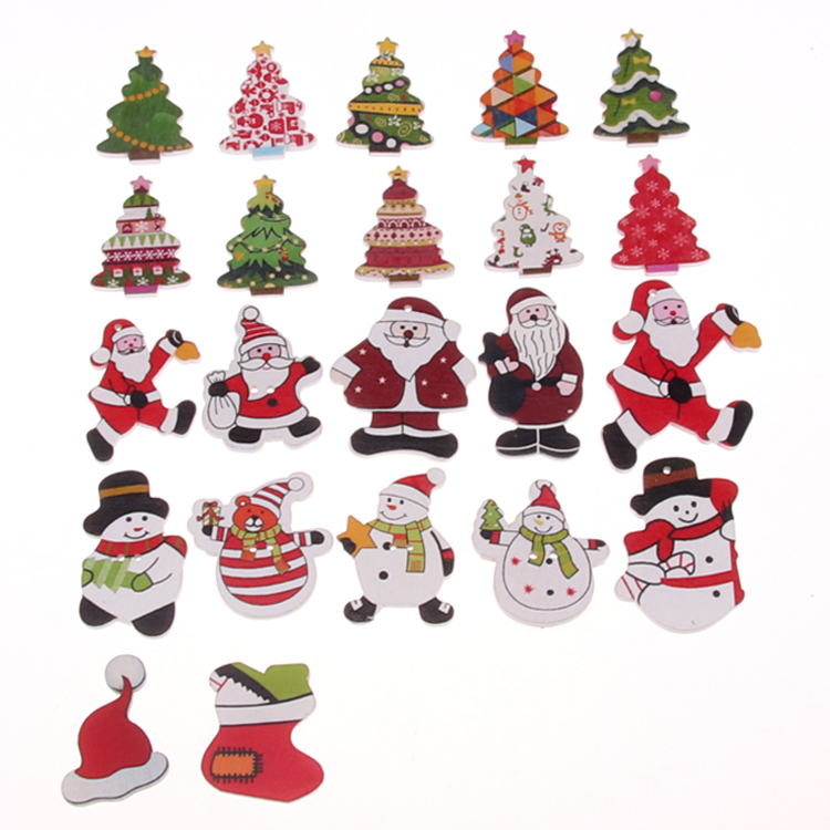 Wholesale Wooden Christmas Pendant Color Santa Claus ...