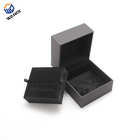 fashion custom luxury branded black pu leather jewellery box for ring and necklace