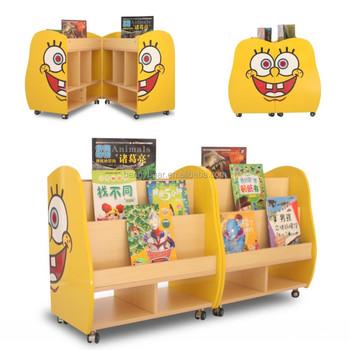 Charmant Kindergarten Furniture SpongeBob Shaped Wooden Bookshelf