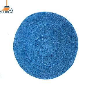 "Clean Up big size 19"" Carpet Bonnet Pad Microfiber Blue use in floor wash mop machine"