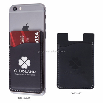adhesive pu mobile phone wallets card holder pockets