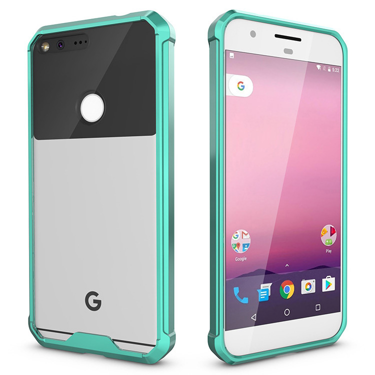 transprent tpu+pc case for google pixel xl case, bumper tpu cover for google pixel xl mobile phone