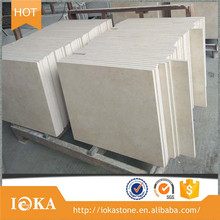 Cheap Nature Beige Marble, f4*24 Crema Marfil Marble Laminated Tile with Factory Price