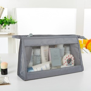 Fashion Mesh Pouch Customized Cosmetic Makeup Pouch Travel Breathable Mesh Toiletry Organizer Bag