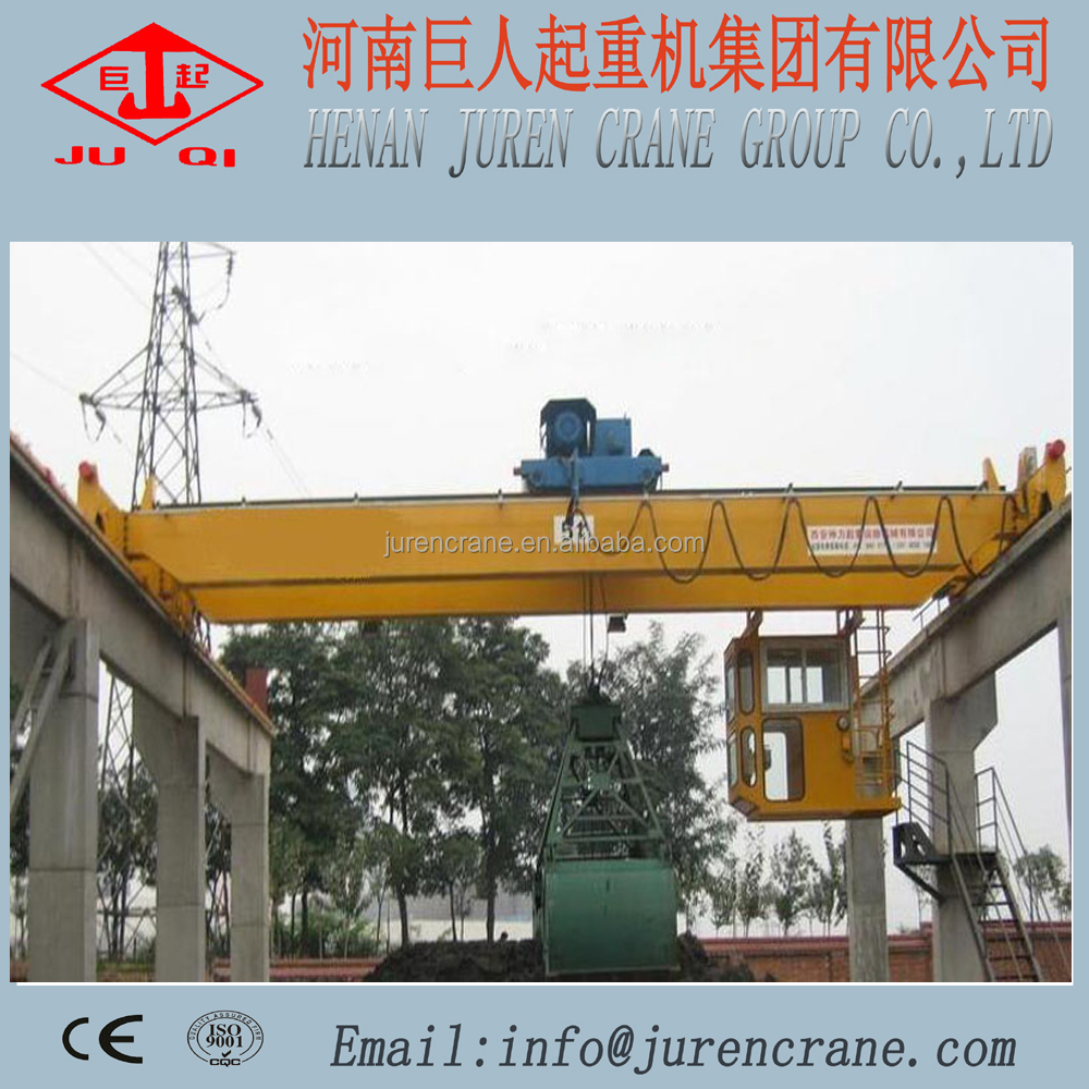 16t Double Girder Grab Bucket Bridge Crane