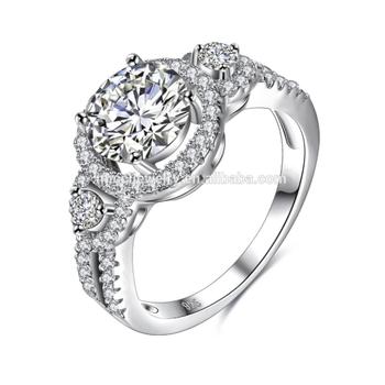 prix spécial pour plus gros rabais 100% authentique En Gros Argent Pur 4 Carats Diamant Foret Bague De Fiançailles Prix Amas De  Diamants - Buy Bague En Diamant 4 Carats,Prix De La Bague En Diamant 4 ...