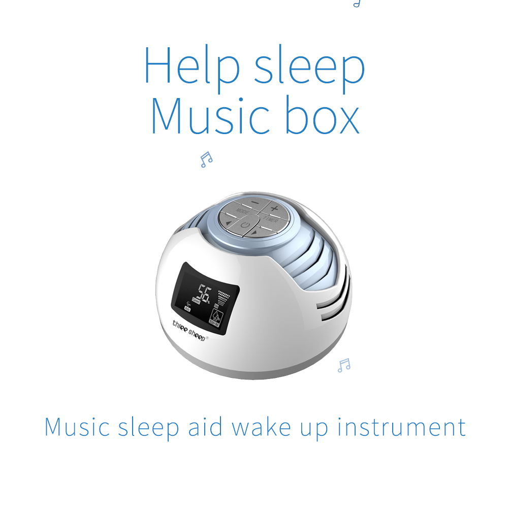 White Noise  Sleep Sound Machine Digital Alarm Clock S2