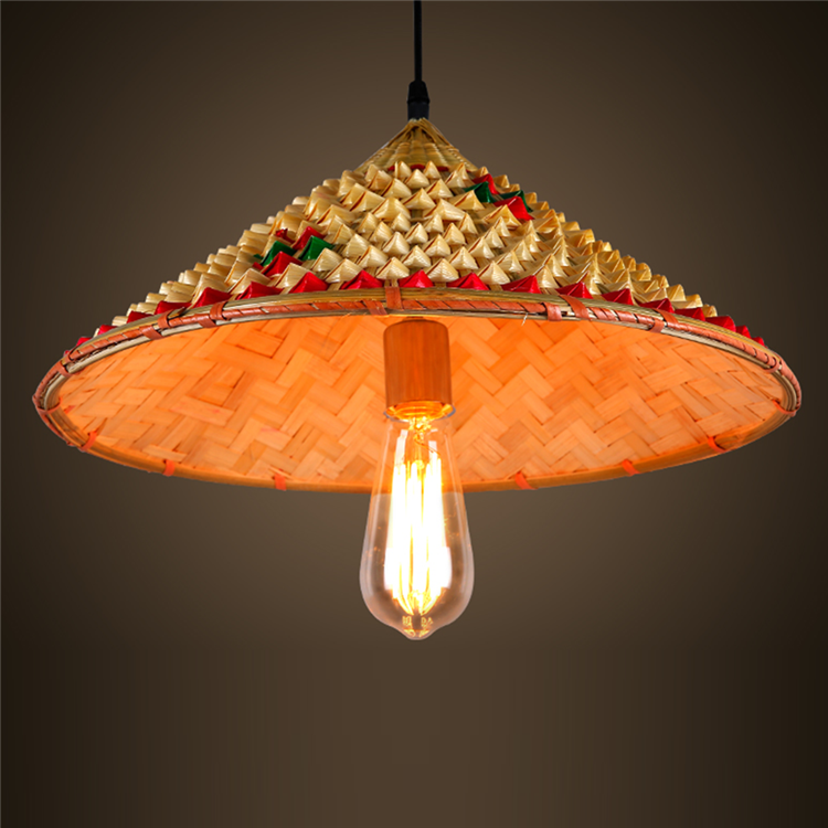 Pendant Light Mg 1404 Creatif Retro Boutique Ferme Paille Chapeaux A