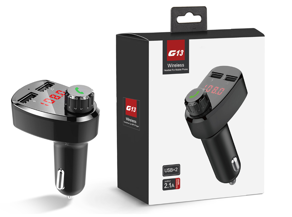GXYKIT New G13 car mobile dual usb charger and fm transmitter and wireless bluetooth car audio mp3 player
