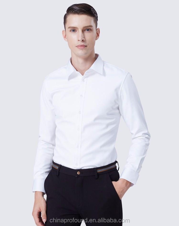 032b6034dea Camisas manga larga de oficina Formal desgaste hombre blanco al por mayor  camisas de vestir para