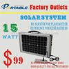 handy portable mini 15W solar panel system sun power generator for homg lighting