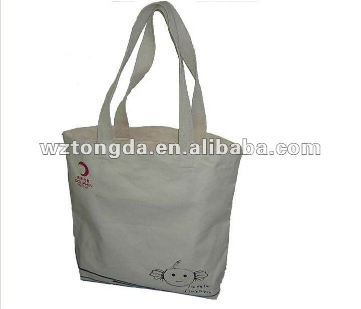 Custom Eco-friendly Canvas Tote Shopping Bags
