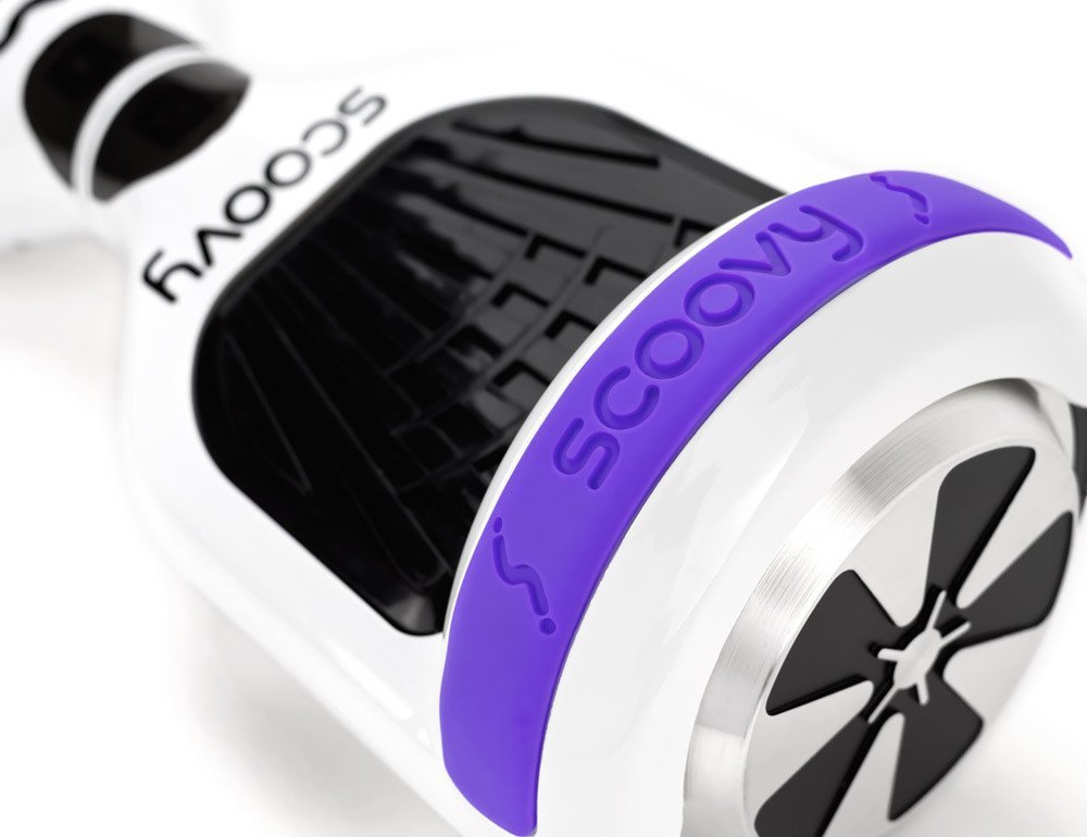 Protective Scoovy Purple Replacement Bumper for Hoverboard / 2 Wheel Self Balancing Scooter - One Pair