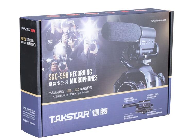 Takstar SGC-598 Recording Microphones for Photography & Interview