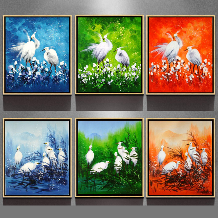 Excellent Art Decoration Modern Hand Painted Canvas Framed Oil Painting Loved Bird Ct 408 Buy Oil Painting Bird Abstract Handmad Oil